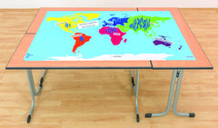 Table cloth world map