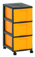 Mobile storage tower / trolley 3 large drawers