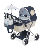 Doll's foldable pram, blue