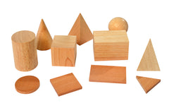 11 Geo Wooden Solids with 2D shapes