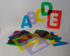 Letter  / alphabet Stencils (lower case)