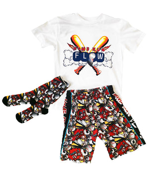 Boys Home Run Baseball Red Outfit