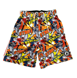Mens Flow Baseball Comic Sideline Attack Short