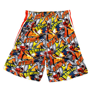 Boys Flow Baseball Comic Sideline Attack Short