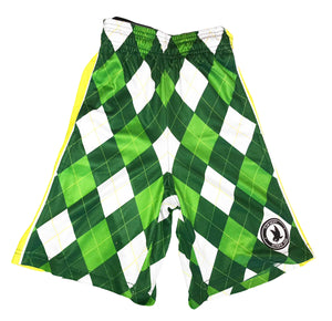 Mens New Argyle Green Attack Short