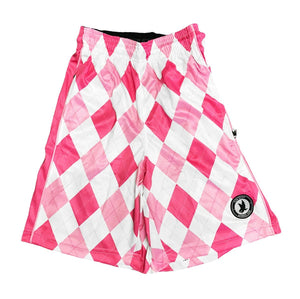 Boys New Argyle Pink Attack Short