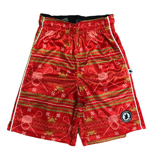 Mens Ugly Sweater Flow Attack Short