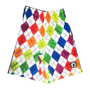 Boys New Neon Argyle Short