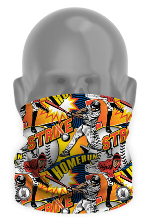 Baseball Comic Sideline Tube Mask