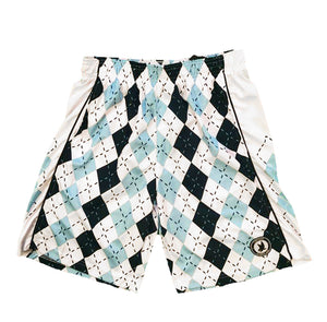 Boys Blue & White Argyle Attack Short