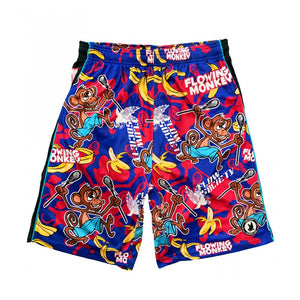 Boys Flowing Monkey Attack Shorts