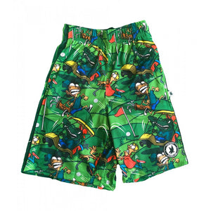 Boys Golfing Gator Attack Short