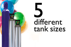 5 Helium tank sizes - from 50 to 500 balloons