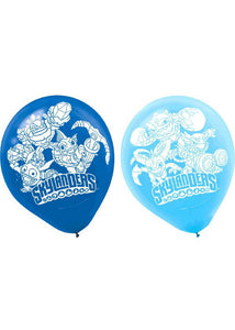 Skylanders Assorted Colours 12in Latex Balloons 6pk
