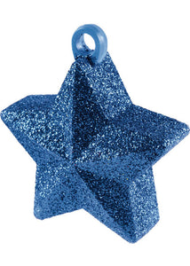 Blue Glitter Star Balloon Weight 3in x 3in