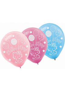 Hello Kitty Balloon Dreams Assorted Colours 12in Latex Balloons 6pk