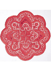 Doilies - Red 12.5in Foil Round Doilies 3pk