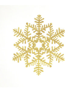 Snowflake - 6.5in Gold Glitter Snowflake