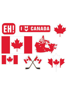 Canada Day Cutouts Mega Value 30pk