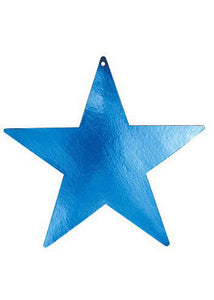 Blue Star - Metallic Star Cutout - 12in