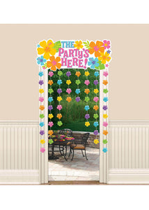 "Hibiscus Decoration - ""The Party's Here"" Decorative Door Curtain"
