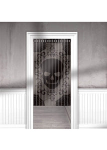 Door Curtain - Lace Mesh Skull