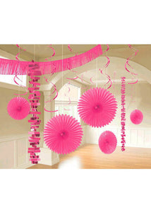 Pink - Bright Pink Kit - Paper & Foil 18-Piece Decorating Kit