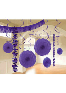 Purple - New Purple Kit - Paper & Foil 18-Piece Decorating Kit