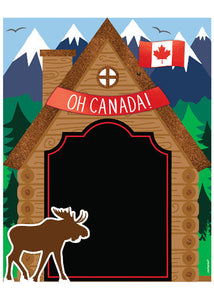 Canada 11in x 14in Chalkboard Easel Sign with Stand