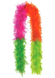 Boa - Black Light Reactive Feather Boa-Neon Colours