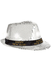 Fedora - New Year Light-Up Silver