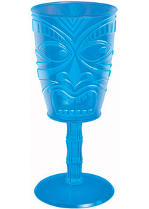 Wine Goblet - Tiki Face Assorted Colours