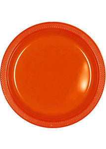 Orange - Orange Peel Plate - 10in Plastic Plates - 20pk