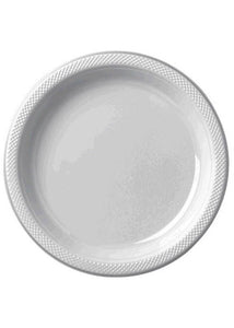 Silver Plate - 10in Plastic Plates - 20pk