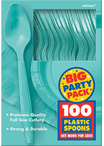 Blue - Robins Egg Blue Cutlery - Spoons - 100pk Box