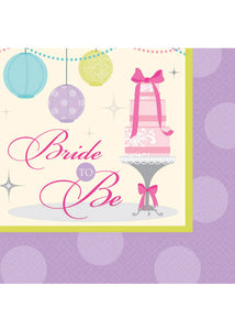 Chic Bride Napkins - Beverage Napkins 2ply 16pk