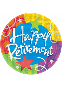 Happy Retirement Plate 7in