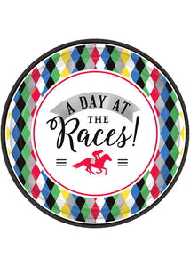 Derby Day Plate - A Day At the Races 7in Plates 8pk