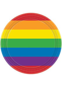 Rainbow Plate - 7in Plates 8pk