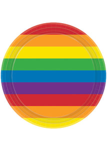 Rainbow Plate - 9in Plates 8pk