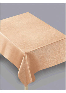 Gold - Rose Gold Metallic Fabric Tablecloth 60in x 104in