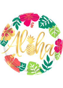 You Had Me At Aloha Plate - 10.5in Metallic Plates 8pk