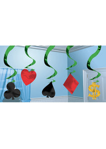 Decoration - Casino Hanging Swirls 5Pk