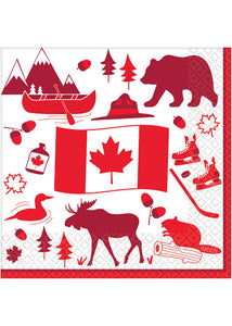 Canadian Icons Luncheon Napkins 36pk