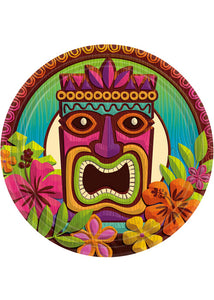 Tropical Tiki Plate - 9in Plates Big Party Pack 60pk