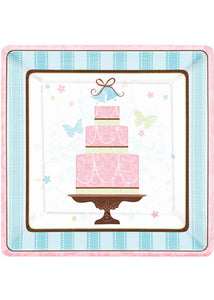 Blushing Bride Plate - 10in Square Paper 18pk