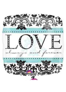 Love Always and Forever Square 18in Foil Balloon