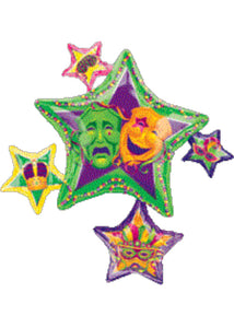 Masquerade Star Cluster SuperShape 35in Foil Balloon