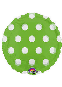 Poka Dot - Clear Lime MagiColour With See Through Dots 18in Foil Balloon