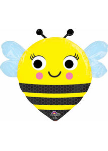 Bug - Bee - Happy Buzz N' Bee 18in Jr. Shape Foil Balloon
